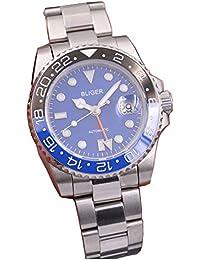 40mm Blue Dial Sapphire Black Blue Ceramic Bezel GMT Two-Time Zone Automatic Movement Men's Watch