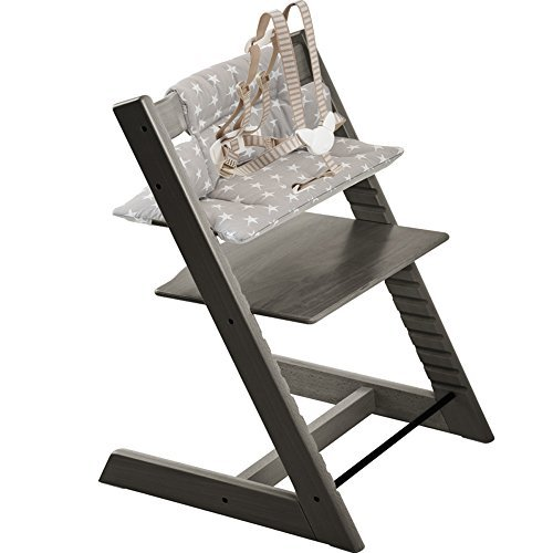 Enjoyable Stokke Tripp Trapp High Tripp Trapp Cushion Grey Star Hazy Grey By Stokke Caraccident5 Cool Chair Designs And Ideas Caraccident5Info