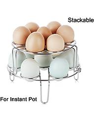 [Upgraded Version] Stackable Steamer Rack for Instant Pot Accessories / Egg Vegetable Steam Rack for Pressure Cooker Accessories