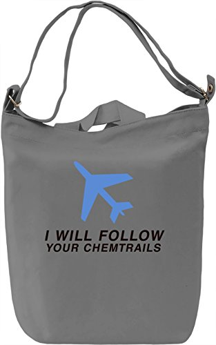 Your chemtrails Borsa Giornaliera Canvas Canvas Day Bag| 100% Premium Cotton Canvas| DTG Printing|