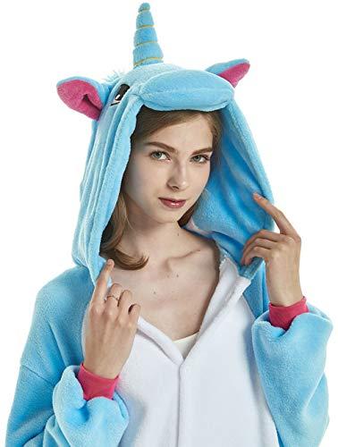 (LONGTEN Adult Animal Pajamas Halloween Christmas Cosplay Costume Onesies Homewear Nightclothes Sleepwear Unisex (No Shoes) (S (Height:147-157cm/57.8-61.8