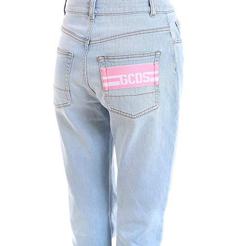 Donna Gcds Ss18w03010307 Jeans Cotone Azzurro 511pxqBw