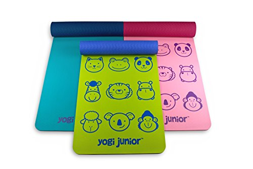 Yogi Junior Kids Yoga Mat - PVC Free - Double Layered TPE Foam