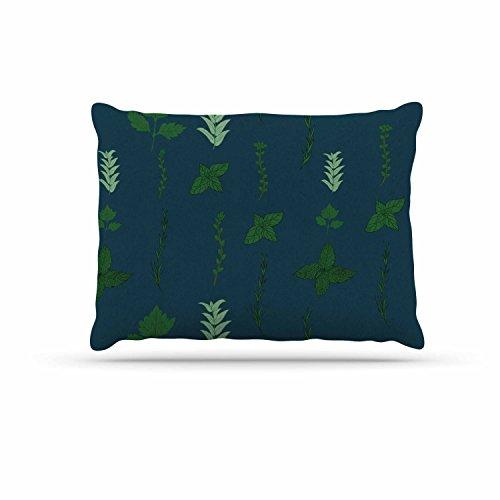 KESS InHouse Stephanie Vaeth ''Herb Garden'' Green Illustration Dog Bed, 30'' x 40'' by Kess InHouse