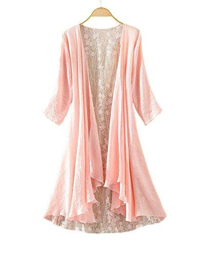 LifeWheel Thin Section Sunscreen Cardigan Jacket Long Section Lace (Lace Jacket)