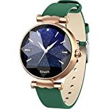 Cywulin Women's Fitness Tracker IP67 Waterproof Smartwatch, Activity Tracking Smart Watch Bracelet Heart Rate Sleep Monitor, Step Counter Calorie Pedometer for iPhone iOS Android Smartphone (Green)