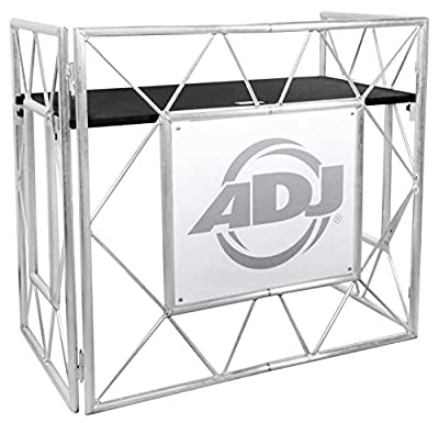American DJ Pro Event Table II Foldable Portable DJ Booth Truss Facade+Shelves from AMERICAN DJ