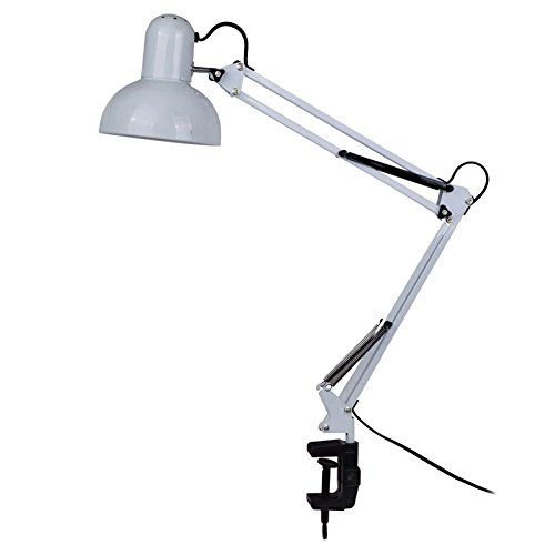 Etonnant LED Desk Lamp   BANGWEIER White Adjustable Swing Arm Drafting Design Office  Studio Clamp Table Desk