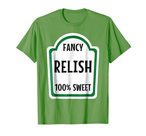 Relish Costume T-Shirt Halloween Group Mustard Ketchup Idea -