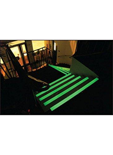70 mm x 30 mm x 1000 mm Photo luminescent Caledonia Signs 59853 Anti-Slip Stair nosing