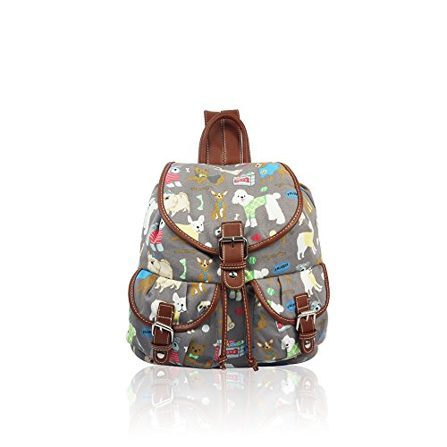Bag Kid Multi Cats Back Backpack Teenager Dogs Canvas YDezire School To Grey Rucksack Shoulder Mix z8wqdEUtUn