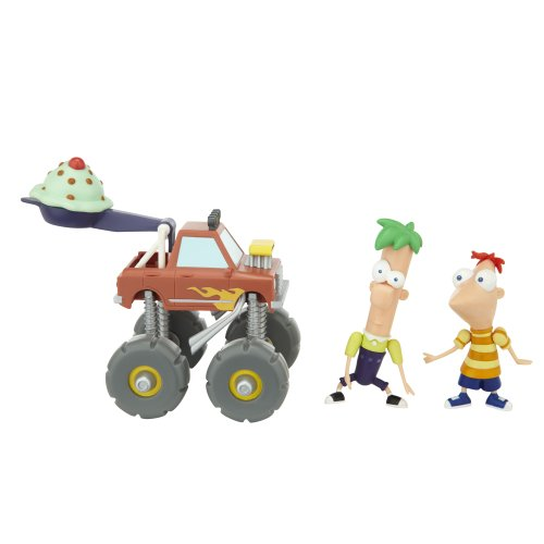 Phineas And Ferb Figure Pack Assortment 3 Phineas And Ferb (With Monster Truck)
