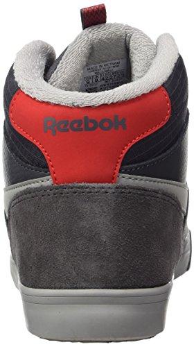 Reebok Herren Royal Complete 2 MW Hohe Hausschuhe Mehrfarbig (Ash Grey / Grey / Primal Red)