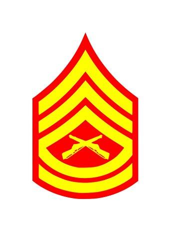 CA POWER USMC E-7 Gunnery Sergeant Rank Car Vinyl Window Decal Sticker