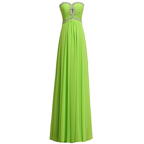 Green Fairy Dress (FAIRY COUPLE Chiffon Strapless Bridesmaid Formal Evening Party Dress D0119 (US14, Light Green))