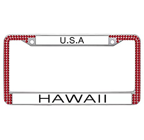 Amazon.com: Nuoyizo Hawaii License Plate Frame Customized License ...