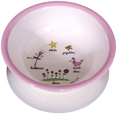 Baby Cie Ballerina-Pink Suction Bowl, Multicolor (Baby Cie Suction Bowl)
