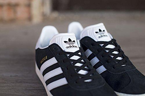 adidas Gazelle J, Zapatillas Unisex Niños negro blanco oro