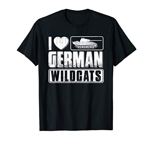 - Panzer T-Shirt German Wildcats Tanks Tanker