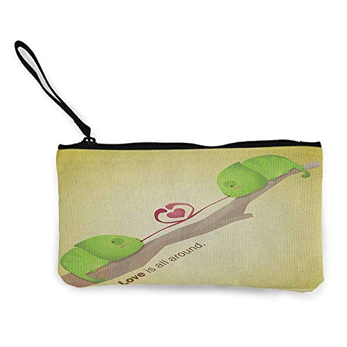 Women's hand bag clutch bag Animal Tree Reptiles on the Branch Valentines Love is All Around in Planet Earth Wallet Coin Purses Clutch W 8.5