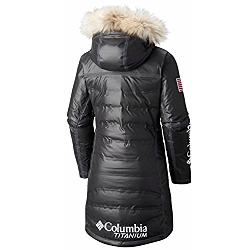 Columbia Women's OutDry Ex Diamond Heatzone Long Parka Jacket, Black, S
