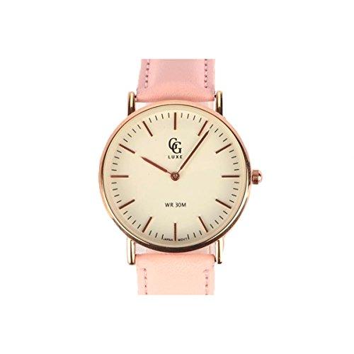 Reloj mujer pulsera cuero rosa June – Mujer