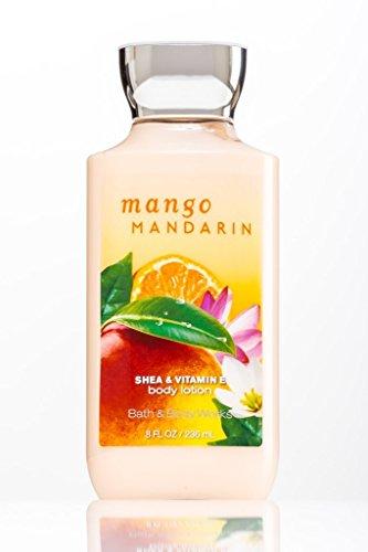 Bath and Body Works Signature Collection Mango Mandarin Body Lotion, 8 Oz 2 Bottle Bundle