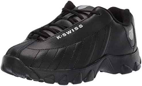 K-Swiss Boys' ST-329 Sneaker, Black