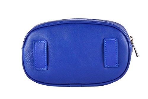 taille BORDERLINE Bleu Sac Ceinture en Véritable de avec Made FLORA Italy Électrique Cuir 100 Femme in a55q1