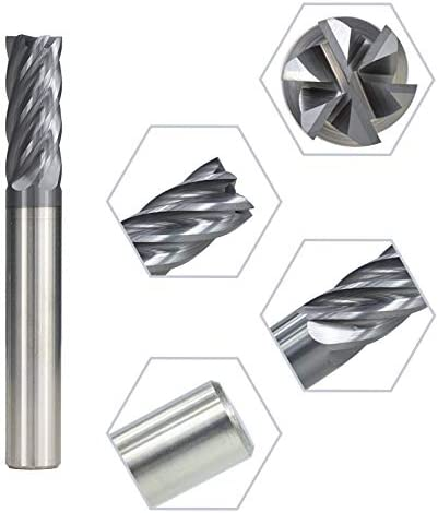Nologo HUHUI-PDXIDAO Size : D10x25x75L 1pc 6-12mm AlTiN Coated 6 Flute Carbide Spiral End Mill End Milling Bit Router Bit for CNC Router 6Flute End Mills