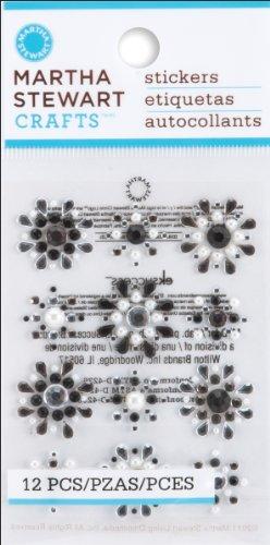 Martha Stewart Crafts Mini Gemstone Flower Stickers