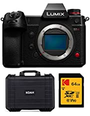 $3999 » Panasonic LUMIX S1H 24.2MP Full Frame Mirrorless Digital Camera (Body Only) with Koah Weatherproof Hard Case and 64GB V90 UHS II SD Card Bundle (3 Items)