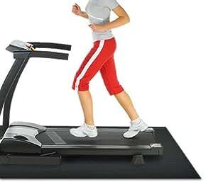 Rubber Cal Treadmill Mat, Black, 3/16-Inch x 4 x 6.5-Feet