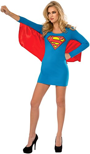 [Rubie's Costume Co Women's DC Superheroes Supergirl Cape Dress, Multi, Small] (Super Hero Costumes For Teens)