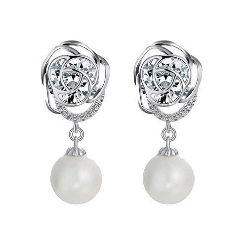 cengXY160h Butterfly Drop Earrings for Female Women White Pearl Dangle Earrings Dangling Bride Fashion Fashion Jewelry,U-470