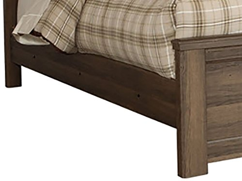 Ashley Furniture Signature Design - Juararo Full Panel Rails - Component Piece - Dark Brown