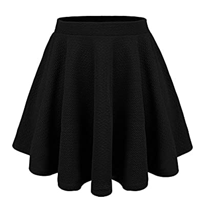 DRSKIN] Women Basic Flared Versatile Stretch Skater Skirt