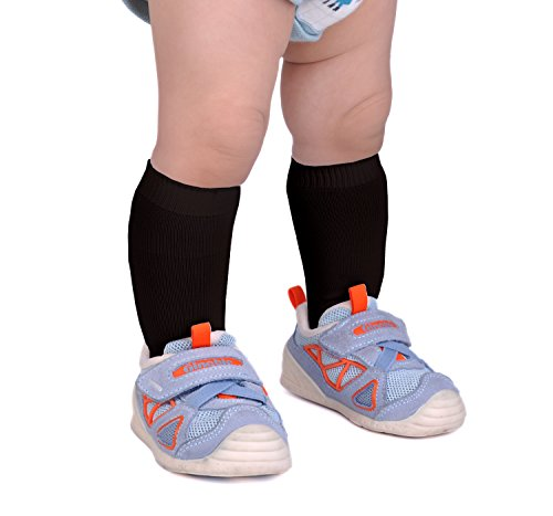 Epeius Unisex-Baby Seamless Classic Nylon Knee Highs Toddler Boys/Girls Uniform Stockings Dress Knee Socks for 9-18 Months,Black from EPEIUS