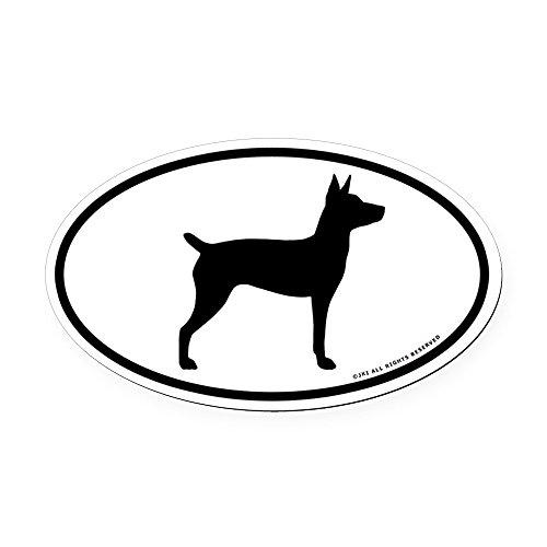 CafePress Rat Terrier Oval Car Magnet, Euro Oval Magnetic Bumper Sticker
