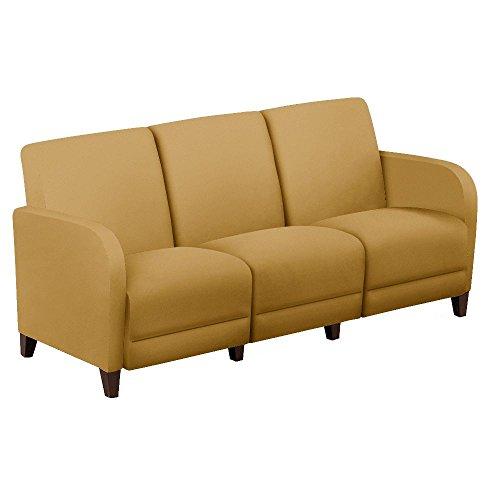 Fabric Sofa - 69.5''W Gold Fabric/Walnut Finish Dimensions: 69.5''W x 29.5''D x 32.5''H Seat Dimensions: 65''Wx20''Dx16''H Weight: 150 lbs by NBF Signature Series