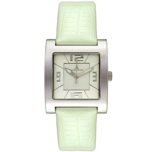 Jacques Lemans Women's 1142O La Passion White Leather Strap Watch