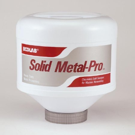Ecolab 10751 Solid Metal-Pro Chlorinated Solid Detergent For Machine Washing - Heavy Duty Metal Protecting - Box of 4 Solid Capsules by Solid Metal-Pro