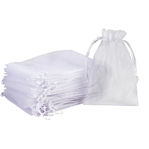 - Madholly 300 Pieces Sheer Drawstring Organza Gift Bags,3.9