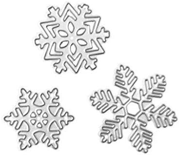 Joy CRAFTS Plantilla De Troquelado De Metal-Feliz Navidad Con Copo De Nieve 6002//0683