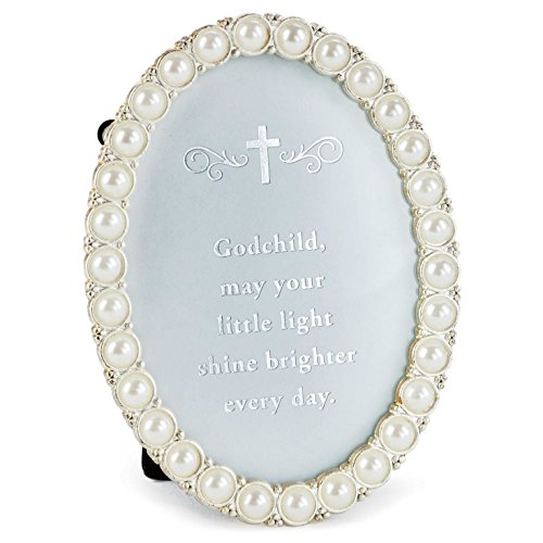 - Hallmark Small Faux Pearl Oval Shaped Godchild Frame