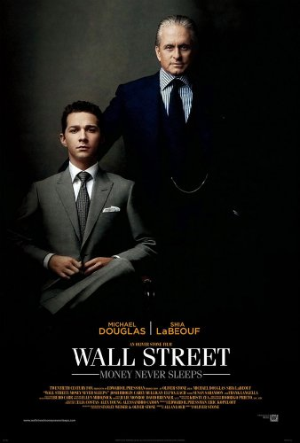 WALL STREET MONEY NEVER SLEEPS MOVIE POSTER 2 Sided ORIGINAL 27x40 OLIVER STONE