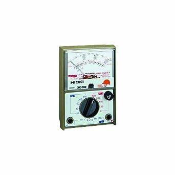 Hioki 3008 HiTester Manual-Ranging, Average-Sensing Analog