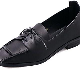 Njx/femme Chaussures Chunky Talon Bout carré Oxfords décontracté Noir/marron MJKIK