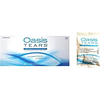 35 Vials Oasis TEARS Preservative-Free Lubricant Eye Drops (1 box of 30 vials and one 5 vial packet)