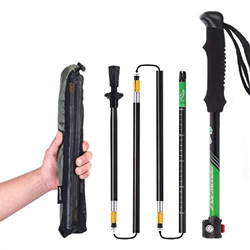 Naturehike Ultra-light EVA Handle 5-Section Adjustable Canes Walking Sticks Trekking Pole Alpenstock For Outdoor 1PC…